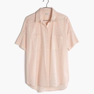 MADEWELL eyelet courier top